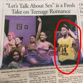 Newspaper article about featured play.