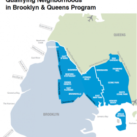 Map of Brooklyn and Queens