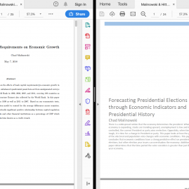 Two abstracts from two papers side by side